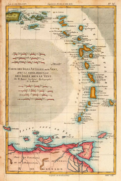 caribbean sailing map