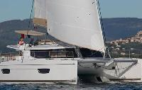 BVI Yacht Charter: Helia 44 Quatour Evolution Catamaran From $8,200/week 4 cabin/3 head sleeps 9