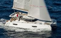 BVI Yacht Charter: Saona 47 Catamaran From $7,800/week 3 dbl cabin 1 sgl/4 head sleeps