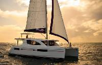 Italy Crewed Yacht Charter Leopard 4800 Catamaran From $8,575/week 4 cabin/5 head sleeps 6 guests